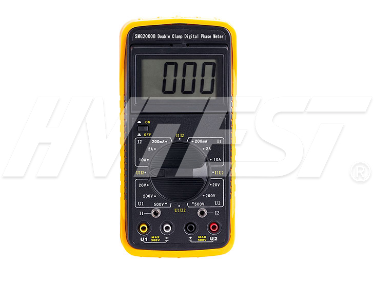 SMG2000B Double Clamps Digital Phase Meter